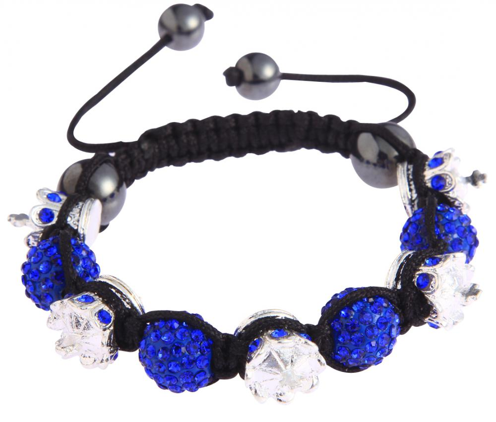 Shamballa náramok LS Fashion LSB0031 modrý
