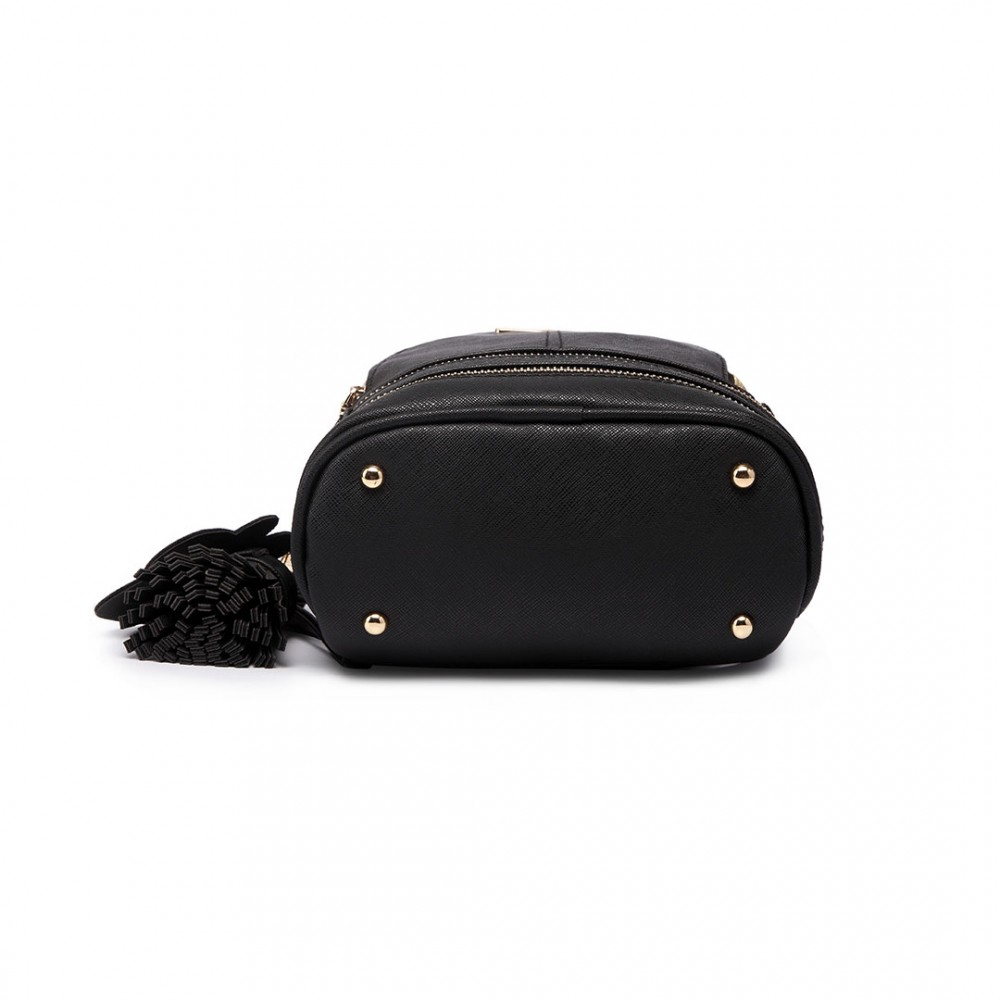 Roztomilý černý designový dámský batůžek Miss Lulu