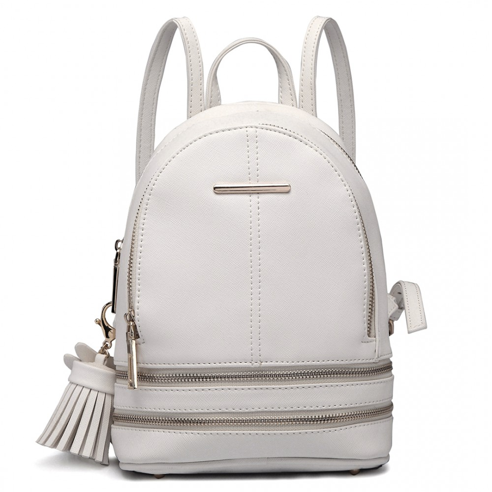 Roztomilý bílý designový dámský batůžek Miss Lulu