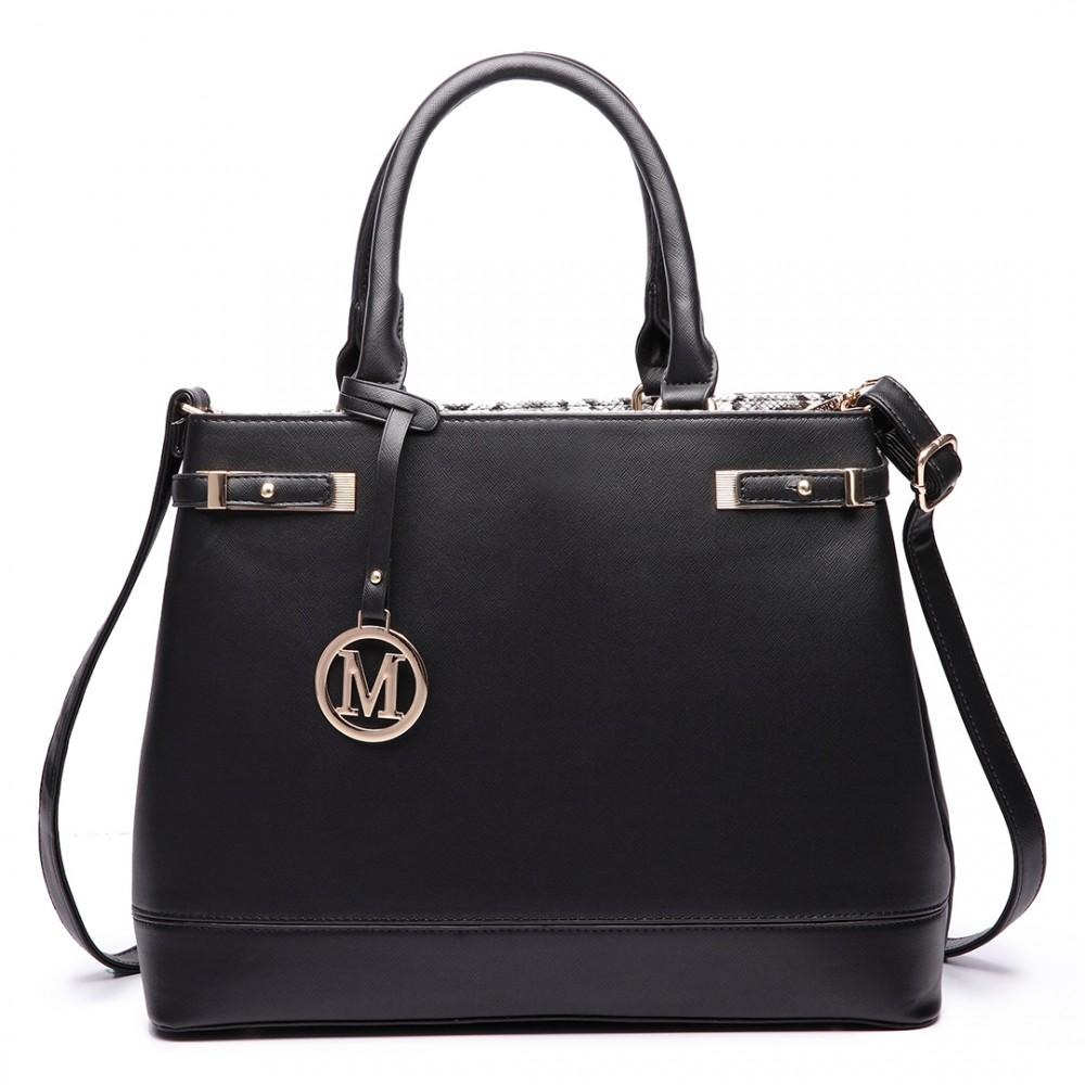 Čierna moderná business kabelka Miss Lulu