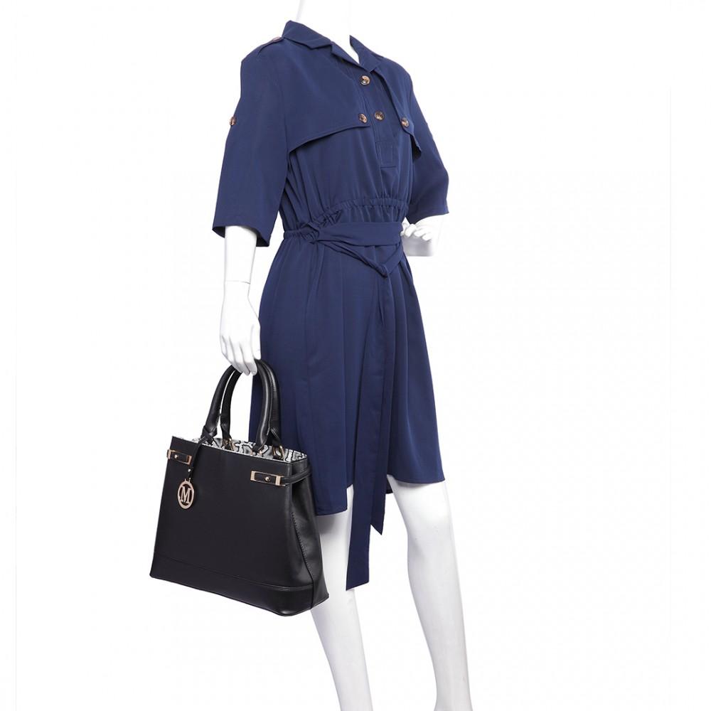 Černá moderní business kabelka Miss Lulu