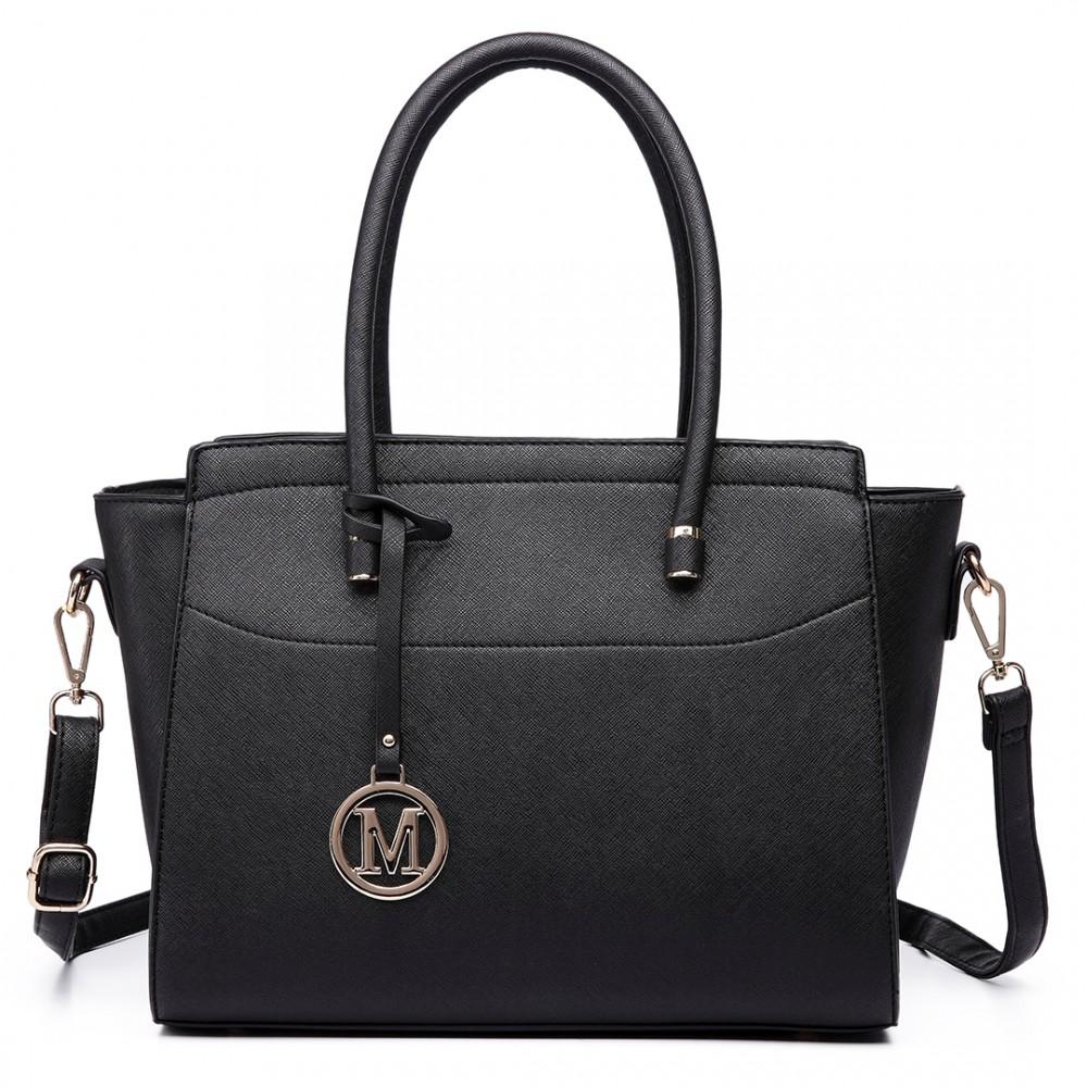 Moderná čierna kabelka Miss Lulu