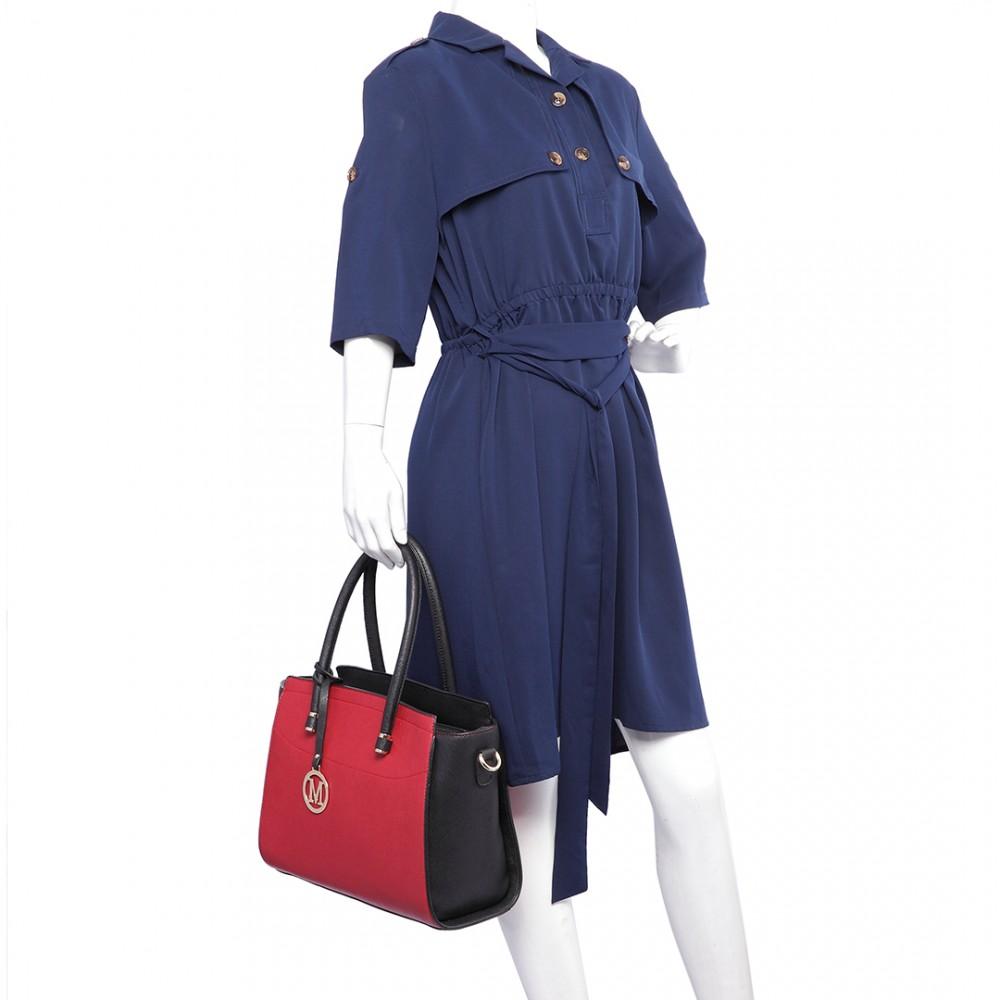 Moderní červeno-černá kabelka Miss Lulu