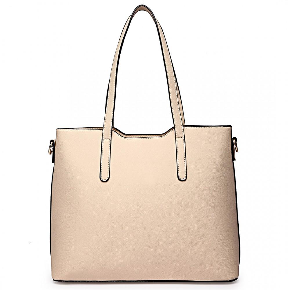 Praktický dámský kabelkový set 3v1 Miss Lulu béžová