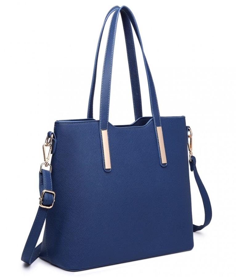 Praktický dámský kabelkový set 3v1 Miss Lulu modrá