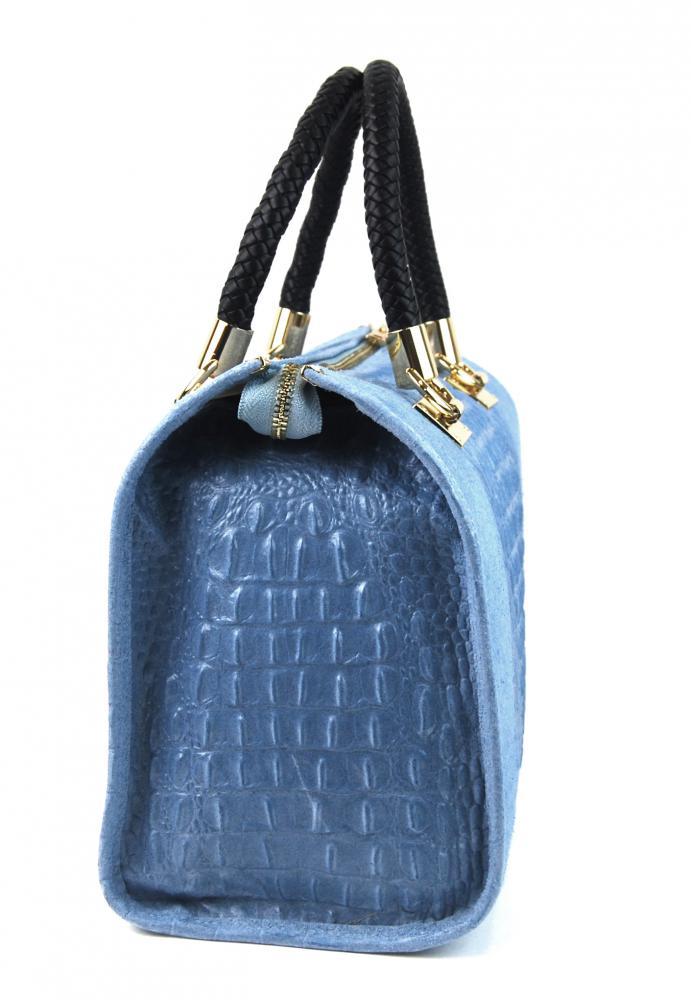 Kožená dámska kabelka Marianne svetlo sivá