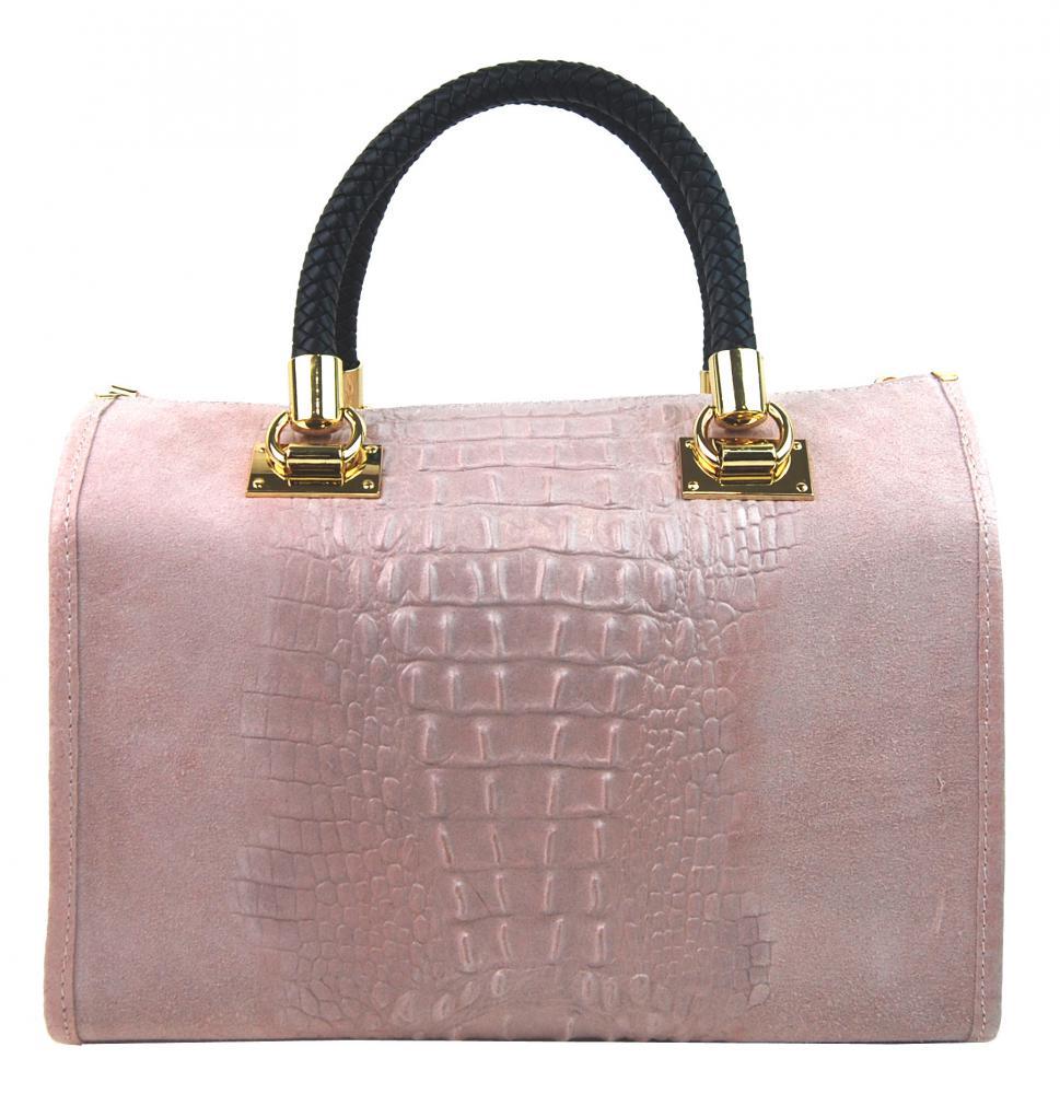 Kožená dámská kabelka Marianne růžová