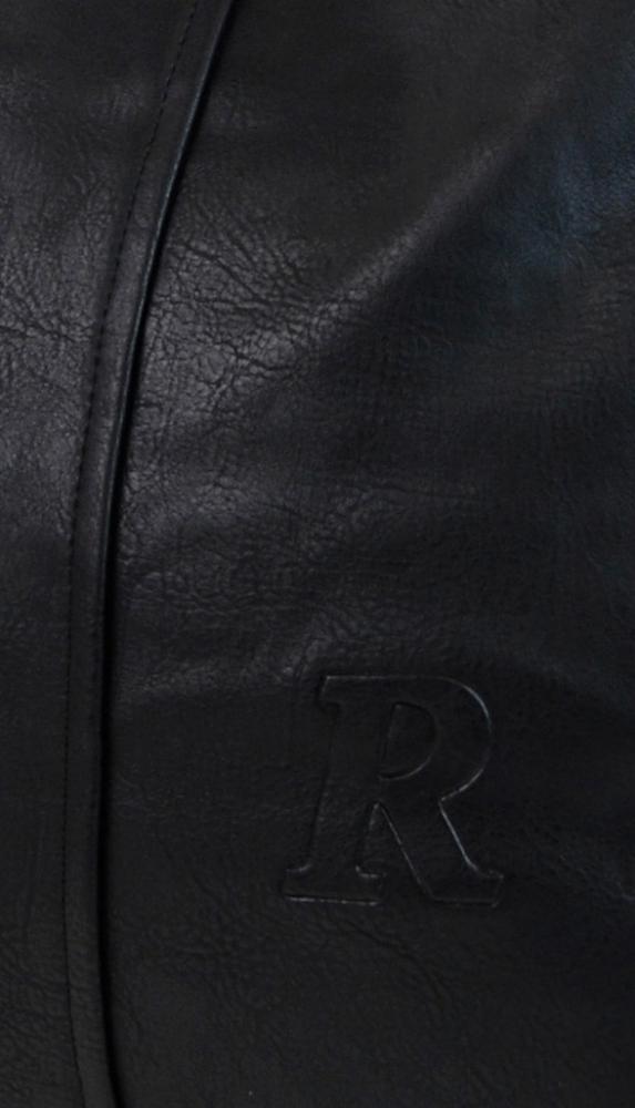 Moderní velká kabelka přes rameno 54-MH černá