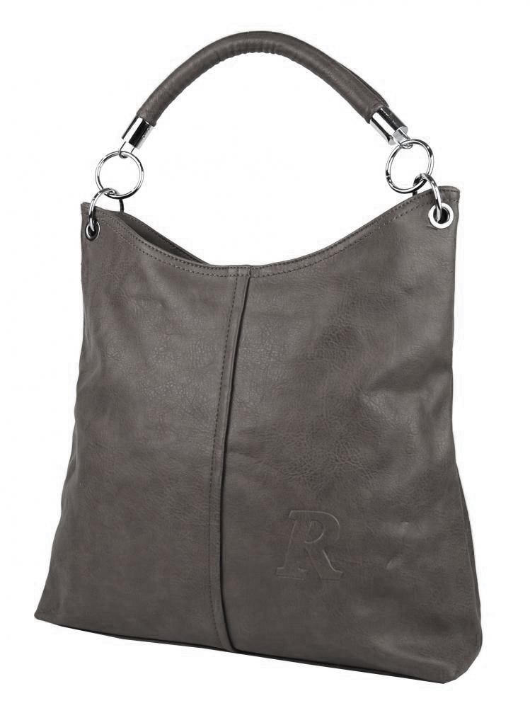 Moderná veľká kabelka cez rameno 54-MH tmavo sivá