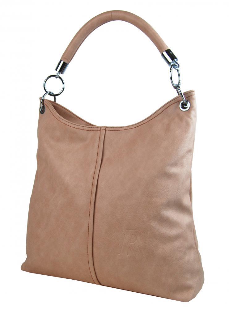 Moderní velká kabelka přes rameno 54-MH růžová