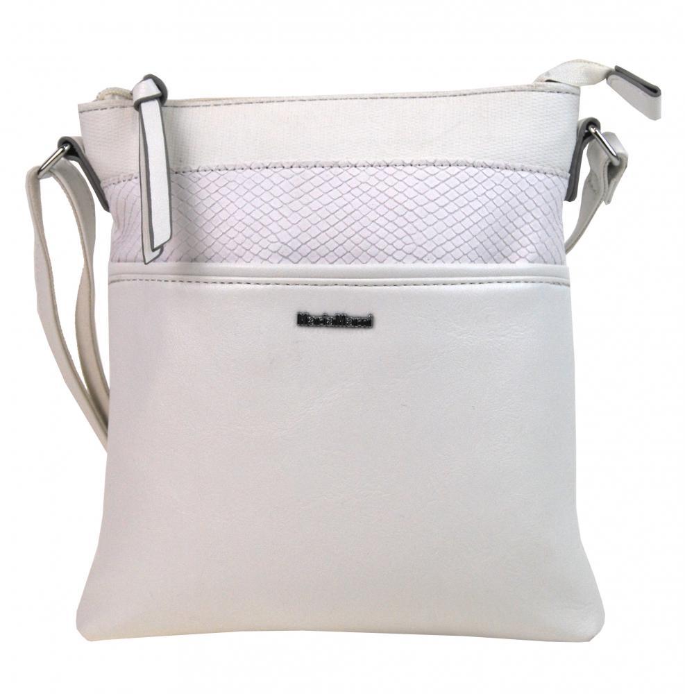Menší crossbody dámská kabelka 3458-MM bílá