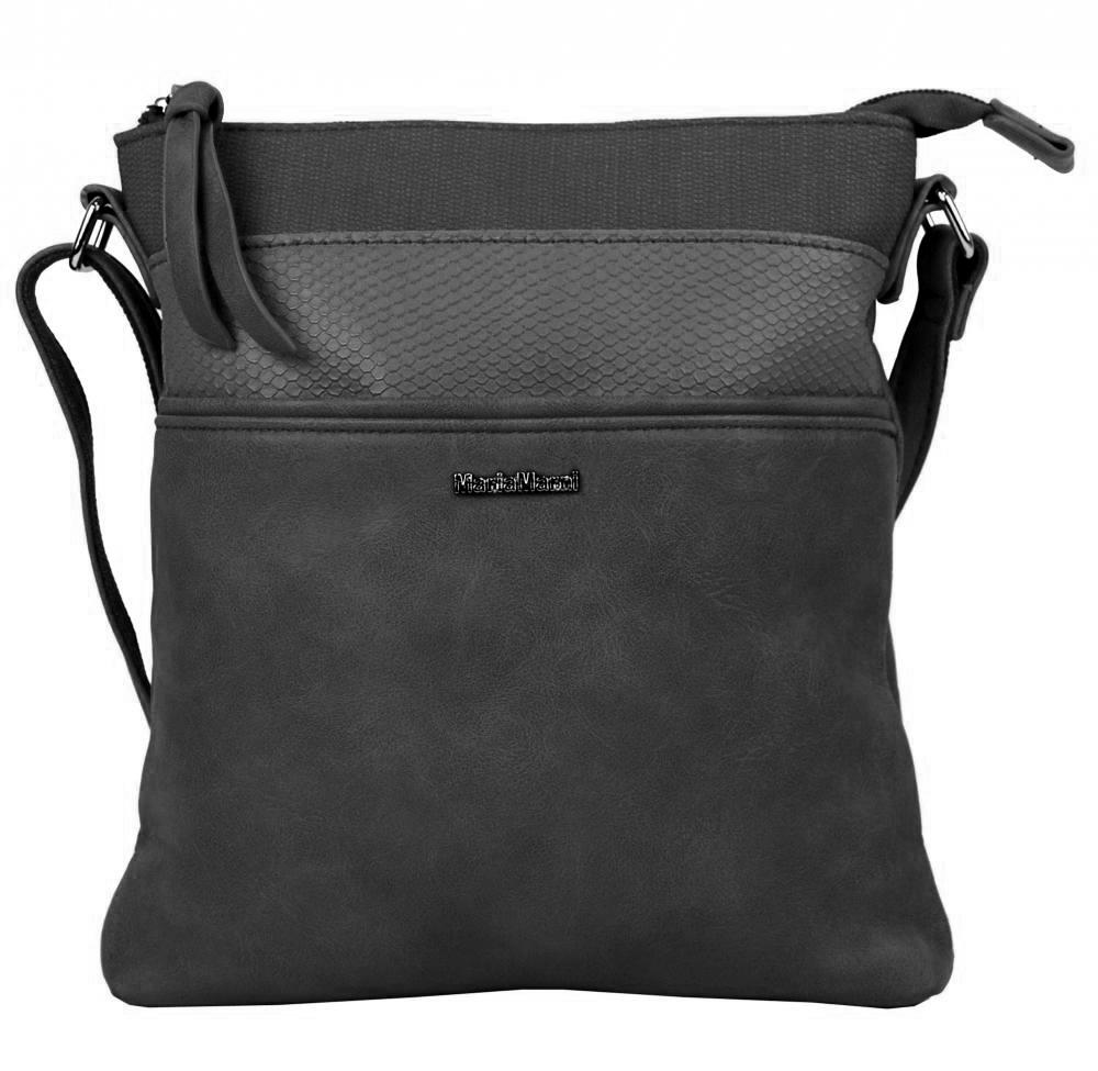 Menší crossbody dámská kabelka 3458-MM tmavě šedá