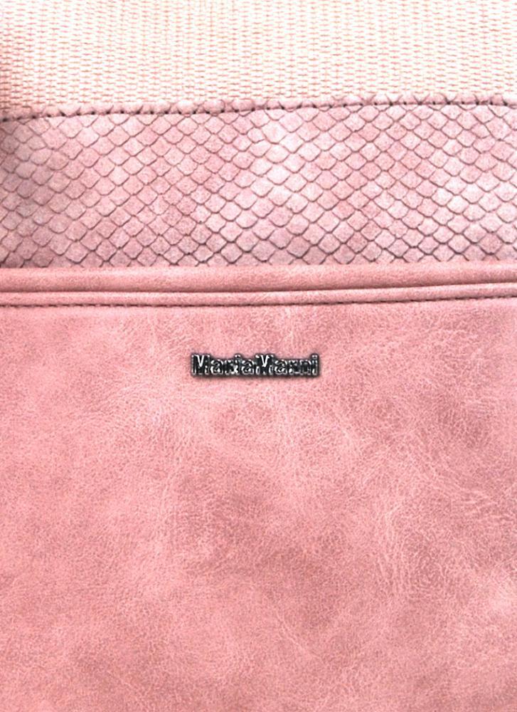 Menšia crossbody dámska kabelka 3458-MM ružová