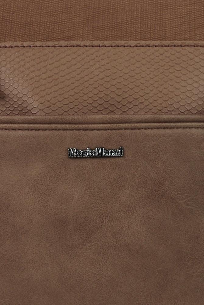 Menšia crossbody dámska kabelka 3458-MM prírodná hnedá