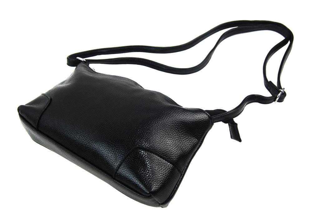 Podélná menší dámská crossbody kabelka H0515 černá