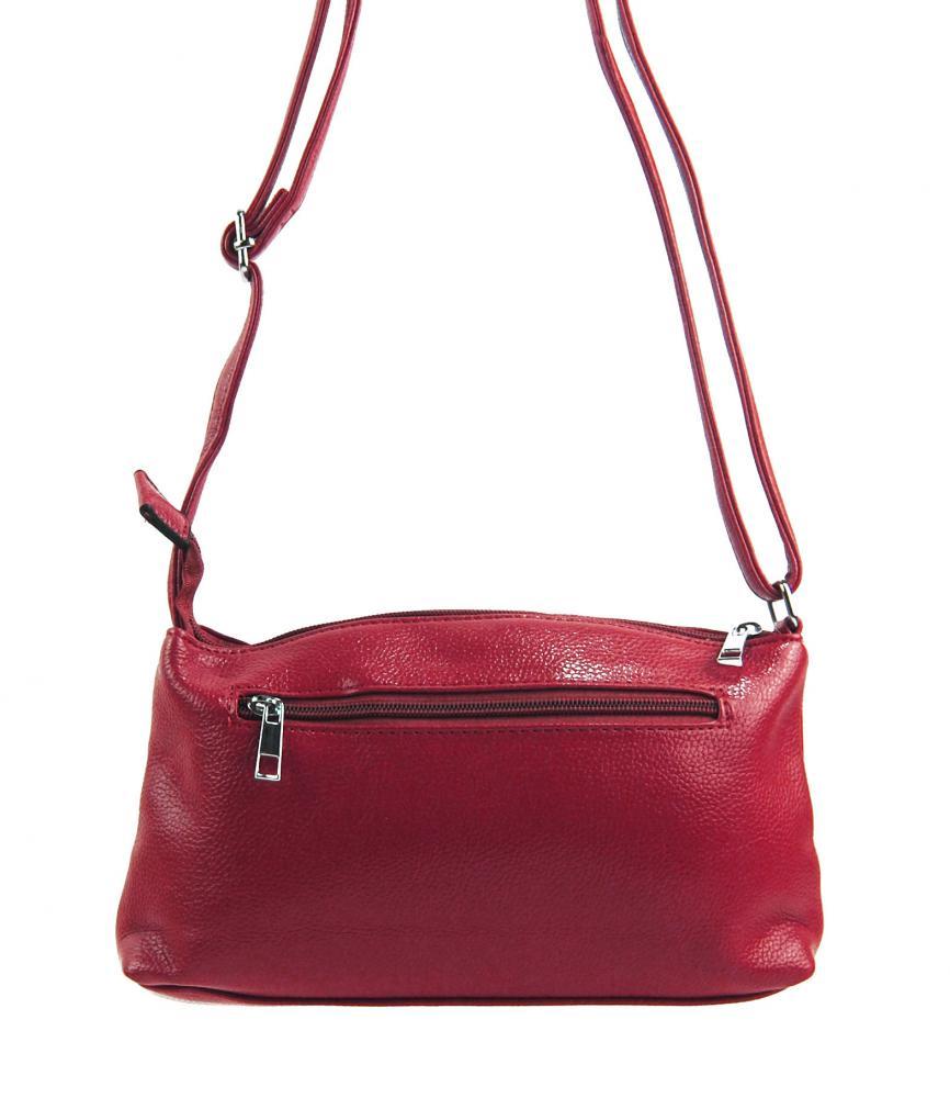 Pozdĺžna menšia dámska crossbody kabelka H0515 červená
