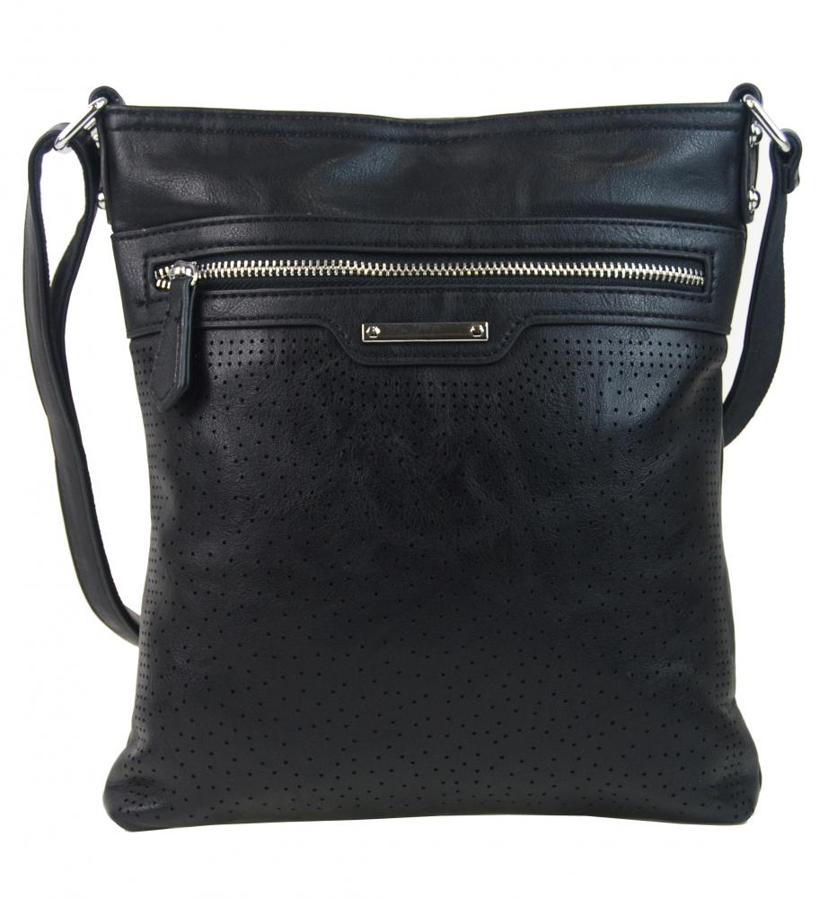 Čierna menšia elegantná dámska crossbody kabelka 1735-BB  ad18724af15