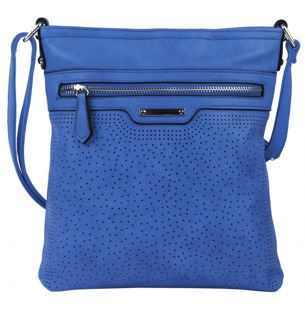 Modrá menšia elegantná dámska crossbody kabelka 1735-BB empty 756e5952b31