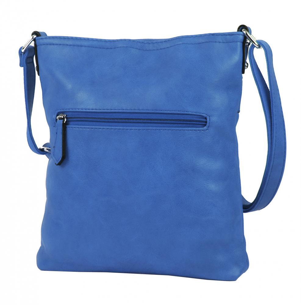 Modrá menší elegantní dámská crossbody kabelka 1735-BB
