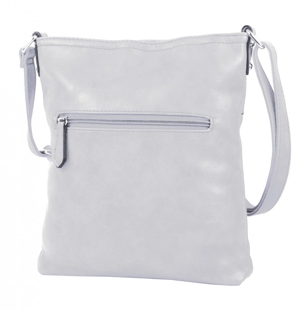 Bílá menší elegantní dámská crossbody kabelka 1735-BB