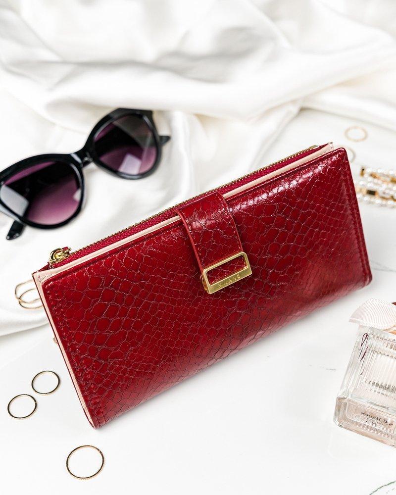 Červená hadia dámska peňaženka v darčekovej krabičke MILANO DESIGN