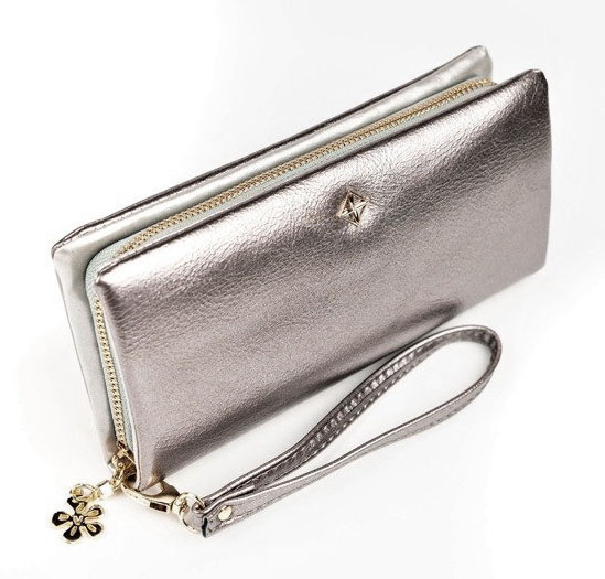 Strieborná dámska peňaženka s obvodovým zipsom v krabičke MILANO DESIGN