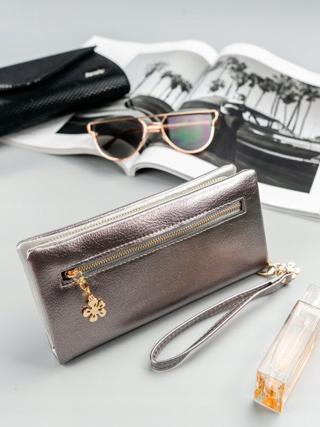 Stříbrná dámská peněženka s obvodovým zipem v krabičce MILANO DESIGN