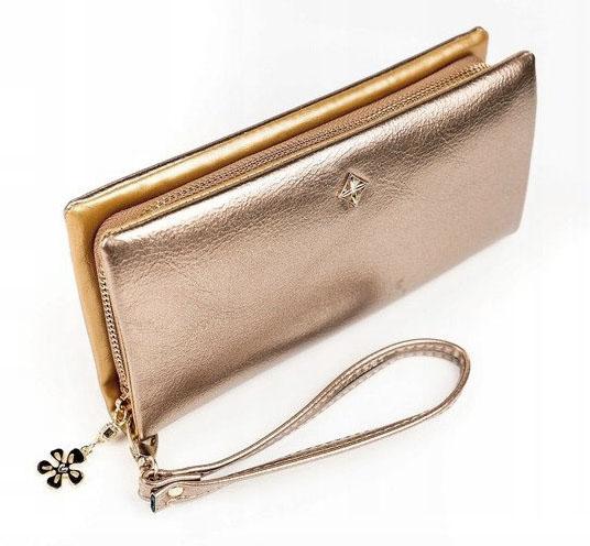 Zlatá dámska peňaženka s obvodovým zipsom v krabičke MILANO DESIGN