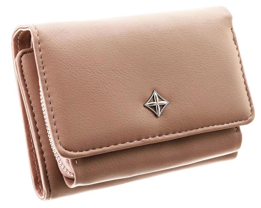 Camel hnědá menší dámská peněženka v dárkové krabičce MILANO DESIGN