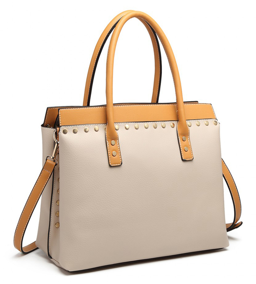 Béžová moderná business kabelka Miss Lulu
