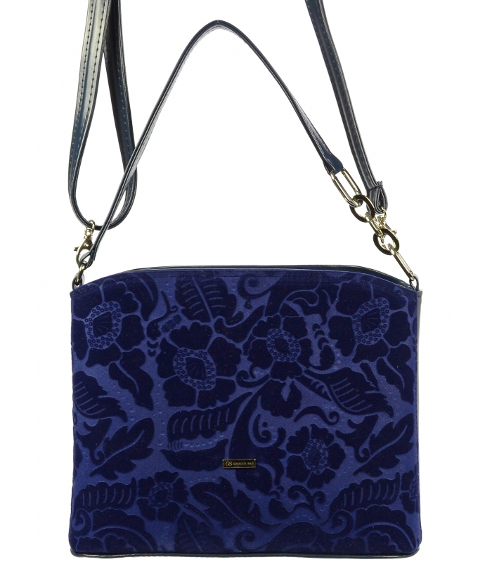 GROSSO Modrá luxusní crossbody dámská kabelka