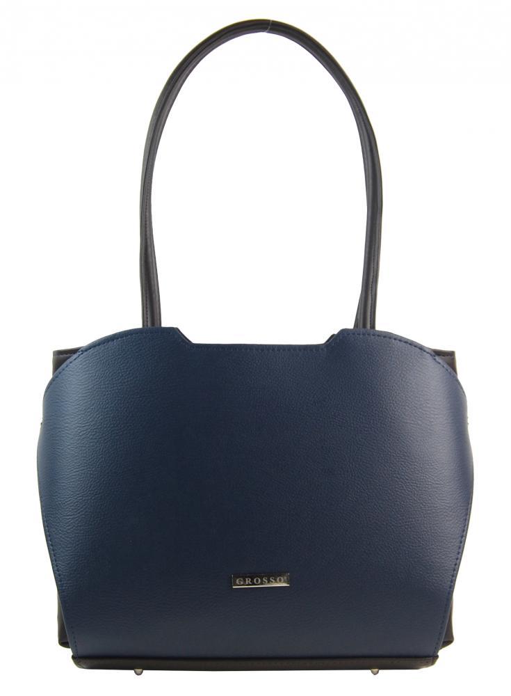 Modrá elegantní kabelka přes rameno S698 GROSSO