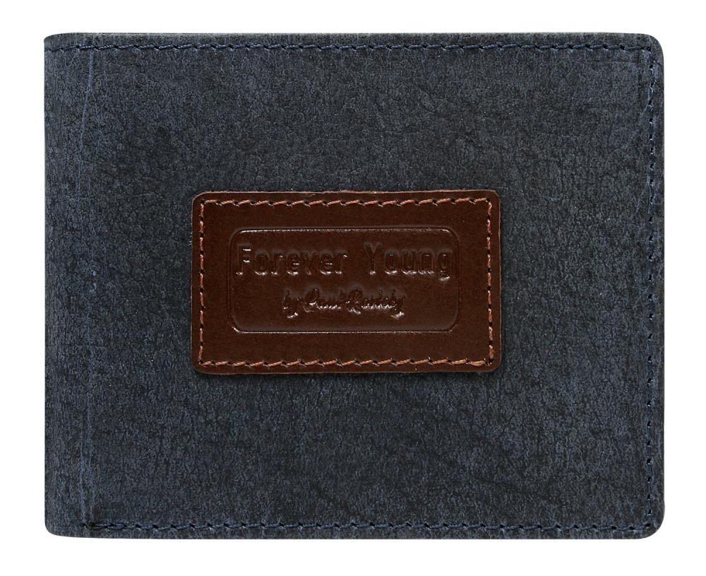 Modrá pánska kožená peňaženka v krabičke RFID Forever Young
