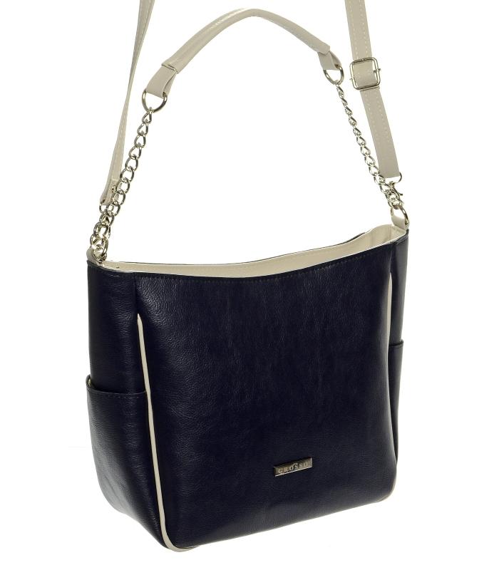 GROSO Modrá dámská crossbody kabelka