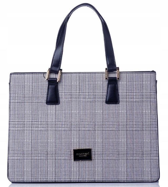 MONNARI Elegantní modrá dámská kabelka se zlatým kováním