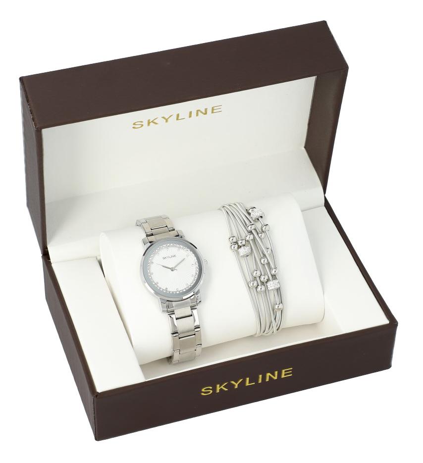 SKYLINE dámska darčeková sada hodinky s náramkom MP0011 ver2