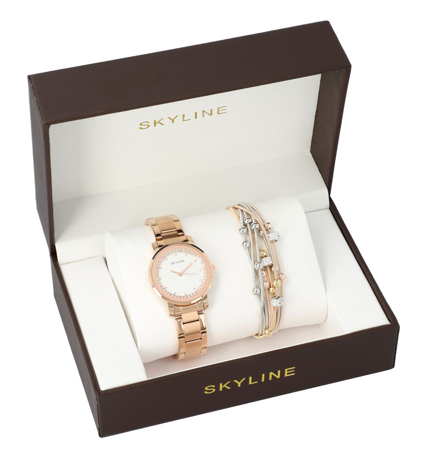 ***VADA - vypadený kamínek *** SLEVA *** SKYLINE dámská sada hodinky s náramkem MP0013