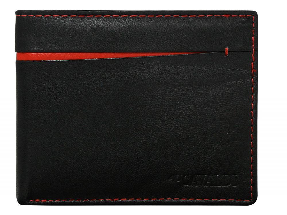 Cavaldi čierno-červená pánska kožená peňaženka