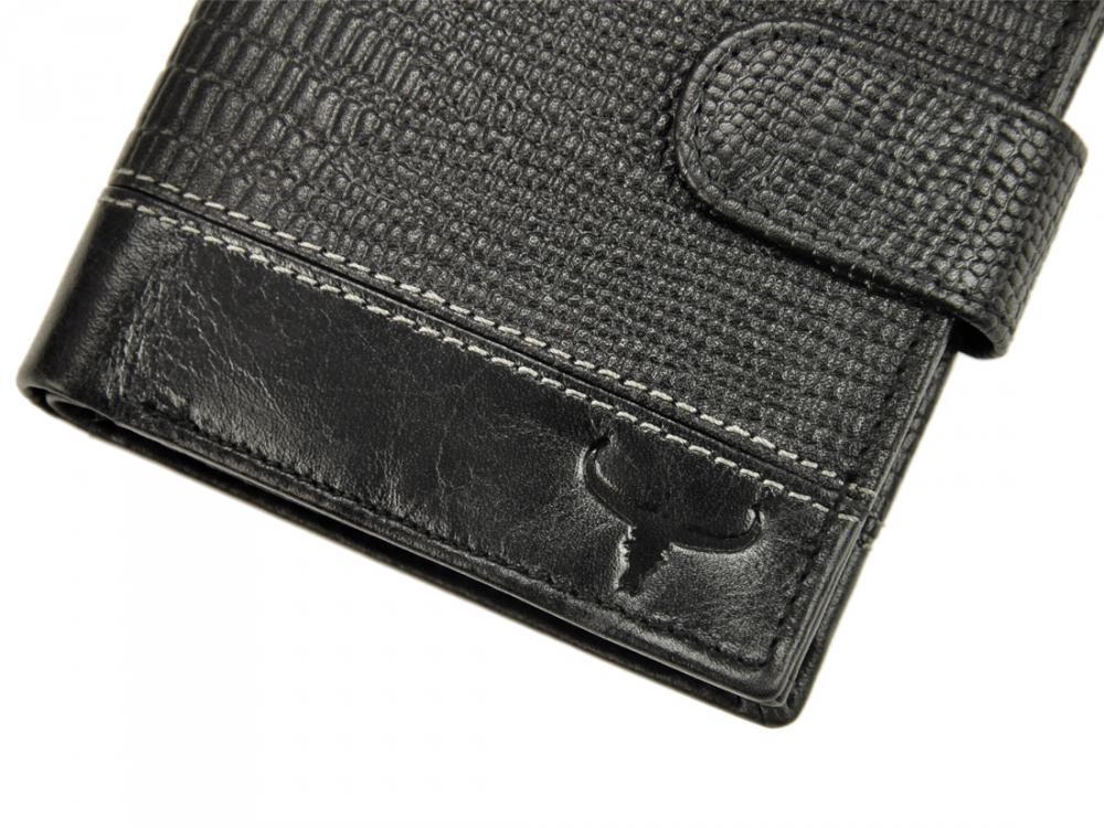 Kožená pánska peňaženka čierna RFID v krabičke WILD