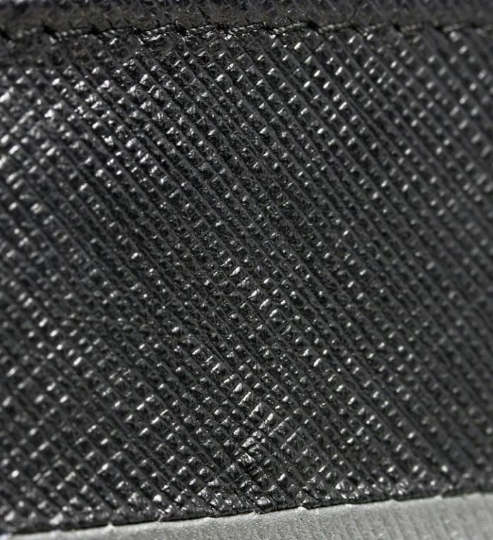 Pánská kožená peněženka černo-červená v krabičce WILD