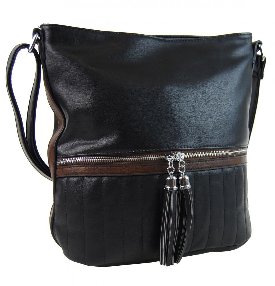 Elegantná dámska crossbody kabelka NH6047 čierna