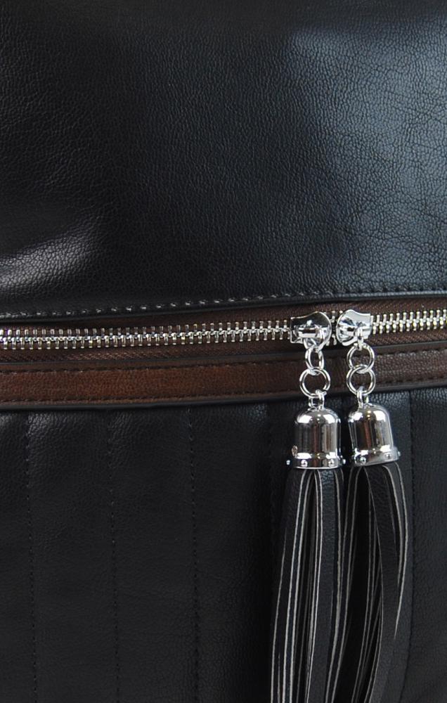 Elegantní dámská crossbody kabelka NH6047 černá