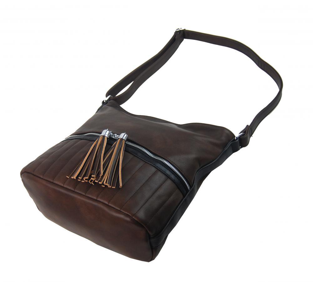 Elegantní dámská crossbody kabelka NH6047 kávová hnědá