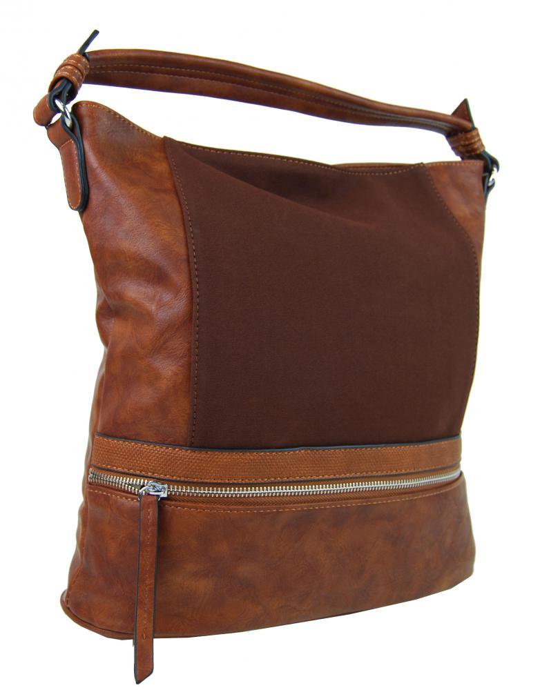 Moderná hnedá dámska kombinovaná kabelka NH6058