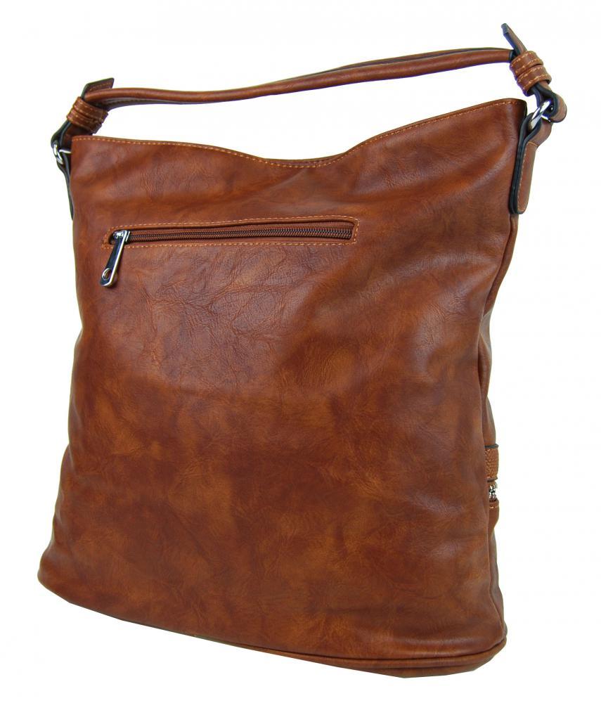 Moderní hnědá dámská kombinovaná kabelka NH6058