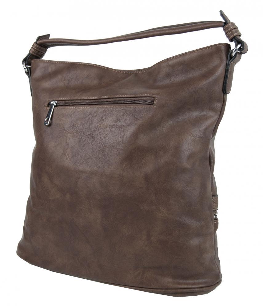 Moderná prírodne hnedá dámska kombinovaná kabelka NH6058