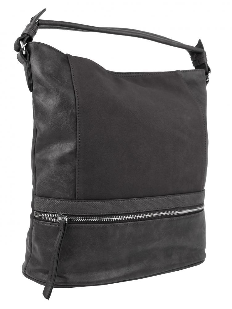 Moderná tmavošedá dámska kombinovaná kabelka NH6058