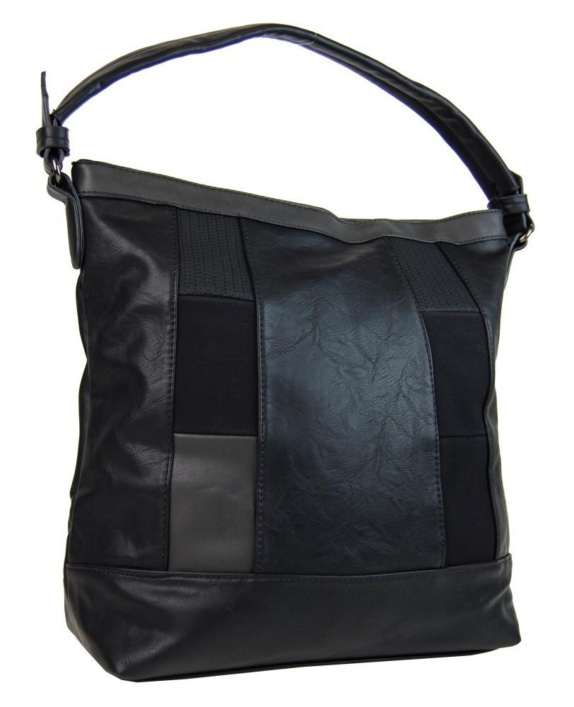 Elegantná kombinovaná dámska kabelka so vzorom NH6071 čierna