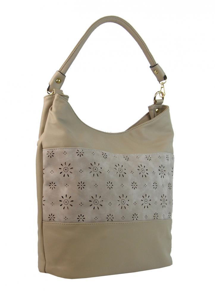 Svetlá kombinovaná dámska kabelka so vzorom NH6075