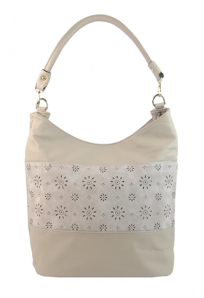 Kombinovaná dámská kabelka se vzorem NH6075 béžová